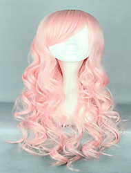 cheap -Synthetic Wig Cosplay Wig Curly Curly Wig Pink Pink Synthetic Hair Women's Pink hairjoy