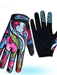 cheap -Winter Bike Gloves / Cycling Gloves Mountain Bike MTB Breathable Anti-Slip Sweat-wicking Protective Full Finger Gloves Sports Gloves Lycra Rainbow for Adults' Outdoor