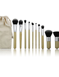 cheap -Professional Makeup Brushes Makeup Brush Set 11 Portable Professional Synthetic Hair Wood for