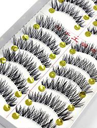 cheap -False Eyelashes 20 pcs Extended Lifted lashes Volumized Fiber Full Strip Lashes Crisscross Natural Long - Makeup Daily Makeup Party Makeup Cosmetic Grooming Supplies