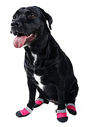 cheap -Cat Dog Boots / Shoes Cosplay Holiday Casual / Daily Stripes For Pets Fabric Red / Summer / Winter / Waterproof