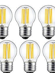 cheap -6pcs 5 W LED Filament Bulbs 550 lm E26 / E27 G45 6 LED Beads COB Decorative Warm White 220-240 V / 6 pcs / RoHS