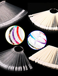 cheap -1set false display nail art fan wheel polish practice tip sticks nail art 50pcs 100 top good