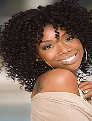 cheap -short hair kinky curly style dark brown color synthetic wigs for women