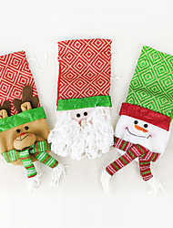 cheap -Christmas Decorations Santa Suits Elk Snowman Textile Toy Gift 3 pcs