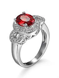 cheap -Women's Red Blue Pink Zircon Cubic Zirconia Alloy Luxury Fashion Wedding Party Jewelry