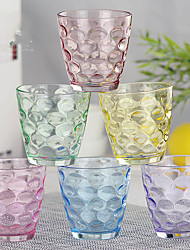 cheap -6PC Colorful Slap-Up Creative Roses Glass Red Wine Glassware Champagne Glass