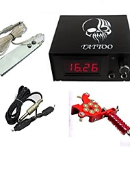 cheap -Professional Digital Tattoo Power ith Plug Cord Foot Switch One Machine