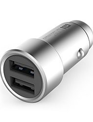 cheap -Car Charger USB Charger Universal Fast Charge 2 USB Ports 2.4 A DC 12V-24V for