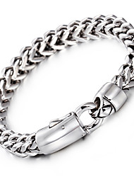 cheap -Men's Chain Bracelet Fashion Stainless Steel Bracelet Jewelry Silver For Party Anniversary Birthday Congratulations Graduation Gift