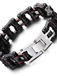 cheap -Men's Chain Bracelet Fashion Stainless Steel Bracelet Jewelry Black For Christmas Gifts Party Anniversary Birthday Congratulations Graduation