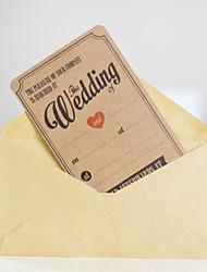 Недорогие -Плоские Свадебные приглашения Прочее / Пригласительные билеты / Образец приглашения Классический Материал / Плотная бумага Цветы