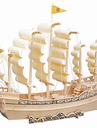 Недорогие -Деревянные пазлы Деревянные игрушки Корабль профессиональный уровень Дерево 1 pcs Детские Взрослые Мальчики Девочки Игрушки Подарок