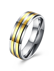 cheap -Men's Band Ring spinning ring Groove Rings Golden Stainless Steel Gold Plated Ladies Fashion Wedding Party Jewelry