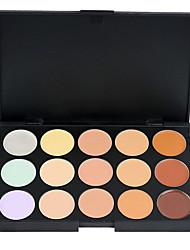 cheap -15 Colors Powders Concealer / Contour 1 pcs Dry / Combination / Oily Concealer Face China Makeup Cosmetic