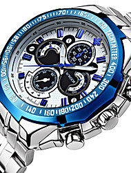 cheap -WWOOR Men's Sport Watch Wrist Watch Aviation Watch Quartz Luxury Water Resistant / Waterproof Analog White / Silver Black Silver / Blue / Two Years / Stainless Steel / Stainless Steel / Noctilucent