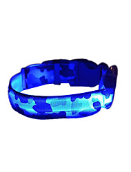 cheap -Collar LED Lights Strobe/Flashing Leopard Camouflage Nylon Yellow Red Green Blue Pink