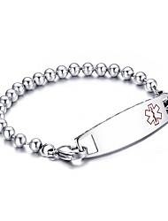 cheap -Men's ID Bracelet Punk Fashion Stainless Steel Bracelet Jewelry White For Party Anniversary Birthday Congratulations Graduation Gift