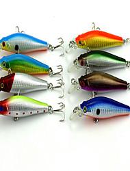 cheap -1 pcs Minnow Fishing Lures Minnow 3D Sinking Bass Trout Pike Bait Casting Hard Plastic