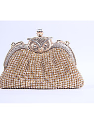 cheap -Women's Crystal / Rhinestone / Acrylic Jewels Special Material Evening Bag Rhinestone Crystal Evening Bags Solid Colored Golden / Silver