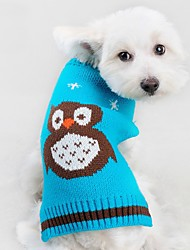 cheap -Cat Dog Sweater Dog Clothes Animal Red Green Blue Acrylic Fibers Costume For Spring &  Fall Winter Men's Women's Casual / Daily
