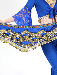 cheap -Hip Scarves Women's Training Polyester Gold Coin / Beading Animals / Christmas Decorations / Halloween Decorations Hip Scarf / Belly Dance / Princess / Historical Characters / Fairies