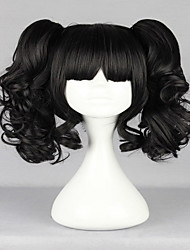 cheap -Cosplay Costume Wig Synthetic Wig Cosplay Wig Curly Curly With Bangs With Ponytail Wig Natural Black Synthetic Hair Women's Black hairjoy