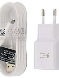 cheap -FOR SAMSUNG Fast Charge Wall Charger + 1.5M Micro USB Quick Charging Data Cable EU / US Plug For Samsung Galaxy S6 Edge S7 Edge Note 4 Note 5