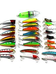 cheap -25 pcs Fishing Lures Hard Bait Sinking Bass Trout Pike Bait Casting Hard Plastic