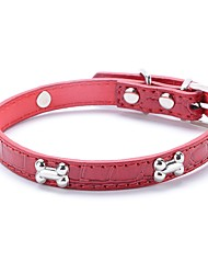 cheap -Cat Dog Collar Adjustable / Retractable Running Hands free Geometic PU Leather Red Blue Pink