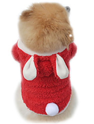 cheap -Cat Dog Costume Hoodie Dog Clothes Solid Colored Purple Red Pink Polar Fleece Costume For Spring &  Fall Winter Men's Women's Cosplay