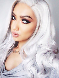 cheap -Synthetic Wig Body Wave Body Wave Wig White Synthetic Hair Women's White