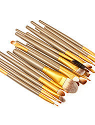 cheap -Professional Makeup Brushes Makeup Brush Set 20 Portable Professional Synthetic Hair Wood Makeup Brushes for