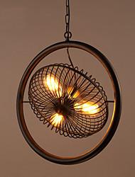 Недорогие -3-Light Мини Подвесные лампы Металл Окрашенные отделки Ретро 110-120Вольт / 220-240Вольт