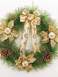 Недорогие -Рождественский венок 3 цвета хвои рождественские украшения для домашнего диаметра партия 40см NAVIDAD новые поставки год