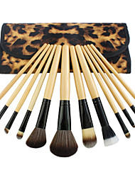 cheap -Professional Makeup Brushes Makeup Brush Set 12 Portable Professional Wood for