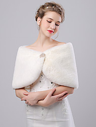cheap -Faux Fur / Imitation Cashmere Wedding / Party Evening Women's Wrap With Rhinestone Capelets