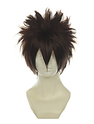 cheap -Cosplay Costume Wig Synthetic Wig Straight Straight Wig Short Brown Synthetic Hair Women's Brown