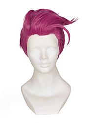 Недорогие -Парики из искусственных волос Маскарадные парики Прямой Прямой силуэт Парик Короткие Фиолетовый Искусственные волосы Жен. Фиолетовый