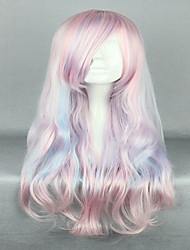 cheap -pink cosplay wig sexy hair 80cm long deep wave synthetic quality lolita wig costume party wig Halloween