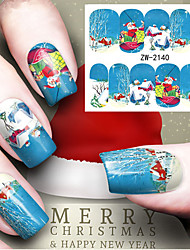 cheap -Water Transfer Printing Christmas Element Nail Art Stickers