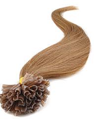 Недорогие -7а кератина Подсказка человеческих волос 0.5G / с 16-24 дюйма Подсказка фьюжн наращивание волос ногтей Подсказка Наращивание волос