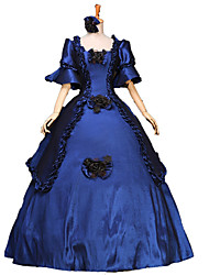 cheap -Victorian Medieval 18th Century Dress Party Costume Masquerade Ball Gown Women's Lace Cotton Costume Vintage Cosplay Party Prom Long Length Ball Gown Plus Size Customized / Floral / Hat