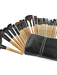 cheap -Professional Makeup Brushes Makeup Brush Set 32pcs Portable Professional Goat Hair Wood Makeup Brushes for Makeup Brush Set