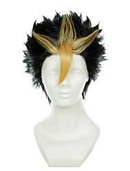 cheap -volleyball juvenile nishinoya yuu brown mixed a pinch of yellow turned alice short halloween wigs synthetic wigs costume Halloween