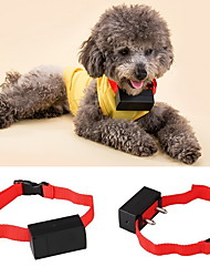 cheap -Dog Bark Collar Anti Bark Electronic / Electric Shock / Vibration Solid Colored Nylon Red
