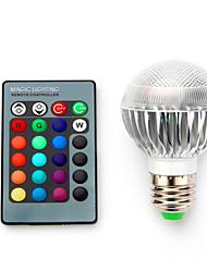 abordables -1pc 3.5 W Ampoules LED Intelligentes 220 lm E14 B22 E26 / E27 1 Perles LED LED Haute Puissance Intensité Réglable Commandée à Distance Décorative RVB 85-265 V / 1 pièce / RoHs