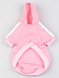 cheap -Dog Hoodie Puppy Clothes Solid Colored Fashion Casual / Daily Sports Winter Dog Clothes Puppy Clothes Dog Outfits Black Yellow Red Costume for Girl and Boy Dog Plush Fabric XS S M L XL