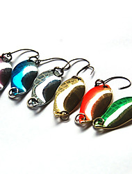 cheap -1 pcs Spoons Fishing Lures Spoons Sinking Bass Trout Pike Bait Casting Hard Plastic