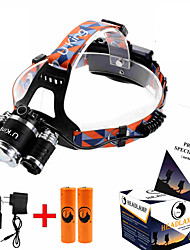 cheap -ZQ-G808 Headlamp Straps Headlight 8500LM LED LED 1 Emitters 4 Mode Adjustable Focus Dimmable Anglehead Super Light Easy Carrying Camping / Hiking / Caving Everyday Use Hunting / Aluminum Alloy